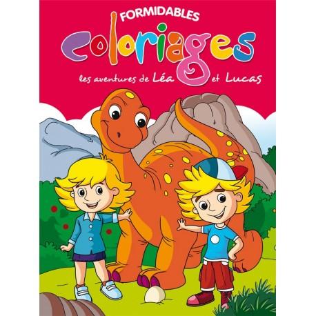 Formidables coloriages. Les aventures de Léa et Lucas