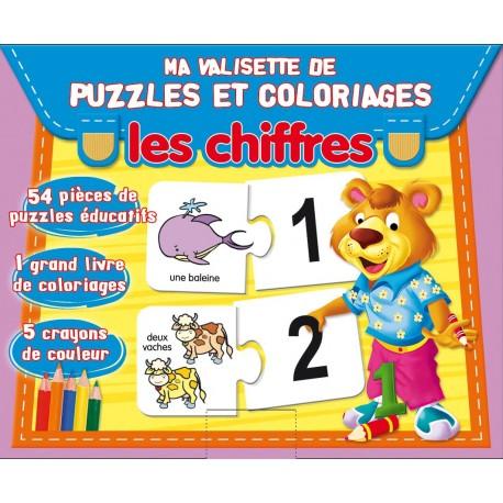 Ma valisette de puzzles et coloriages. Les chiffres