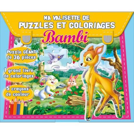 Ma valisette de puzzles et coloriages. Bambi