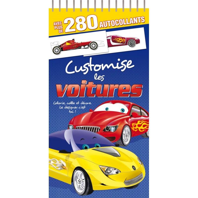 Customise Les Voitures 280 Autocollants Jeunesse Activites Jeux Coloriages Maxilivres