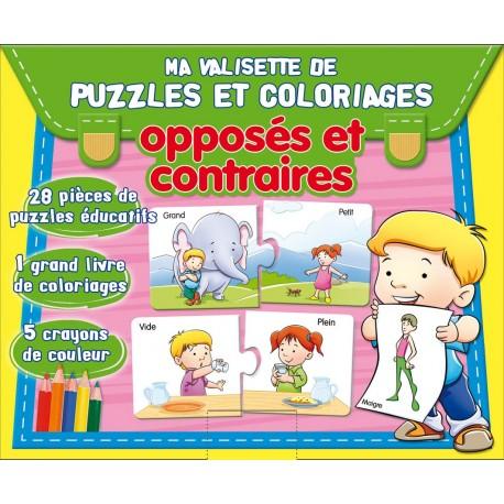 Ma valisette de puzzles et coloriages. Opposés et contraires