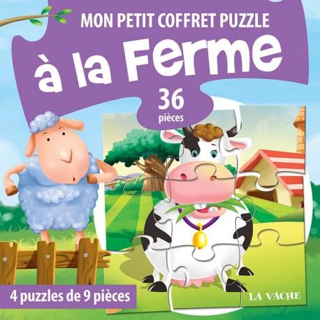 Mon petit coffret puzzle A la ferme