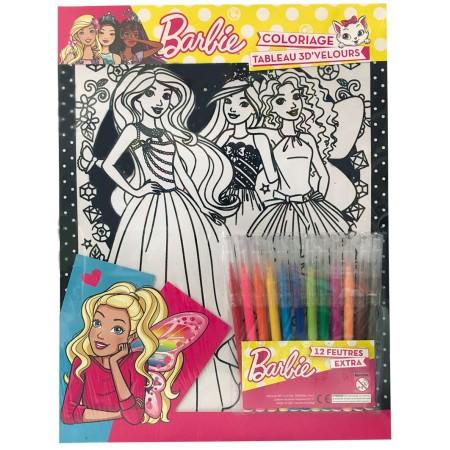 Feutrines Tableau relief 3D Barbie parure (12 feutres)