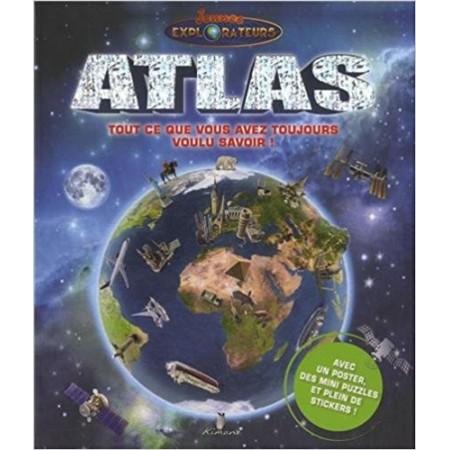 Atlas - Avec un poster, des mini puzzles et plein de stickers !