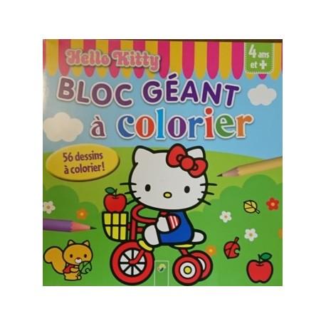 Hello Kitty Bloc géant à colorier