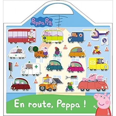 En route, Peppa ! - 25 stickers repositionnables et 1 grand décor