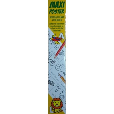 Jeux Coloriage Alphabet.Activites Jeux Coloriages Maxi Poster L Alphabet 4 Metres