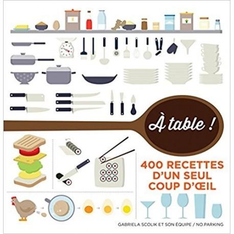 A table ! - 400 recettes d'un seul coup d'oeil