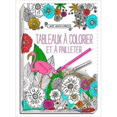 Art anti-stress - Tableaux à colorier et à pailleter Boîte