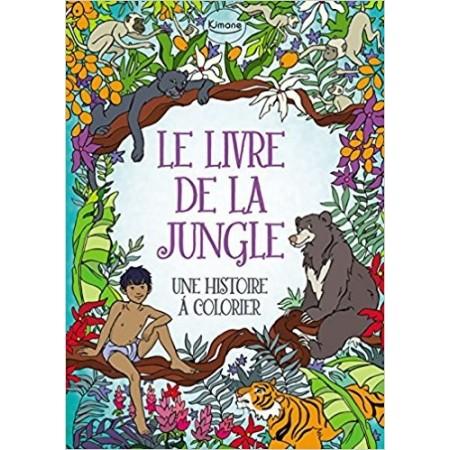 Le livre de la jungle : Une histoire à colorier