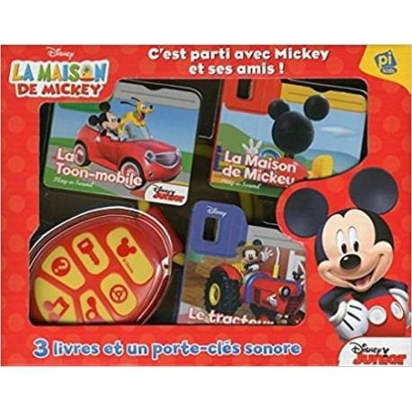 C'est parti avec Mickey et ses amis ! : Contient 3 livres et 1 porte-clés sonores