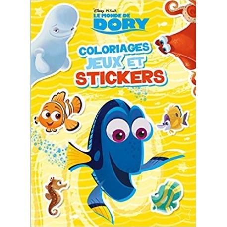 Le monde de Dory - Coloriages, jeux et stickers
