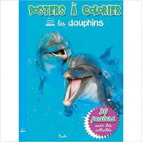 Les dauphins - Posters à colorier