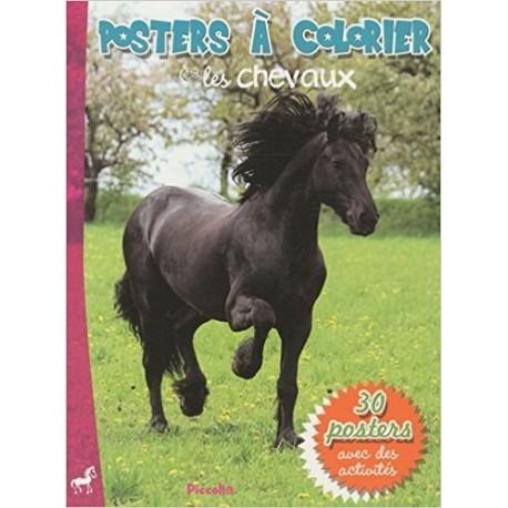 Les chevaux - Poster à colorier