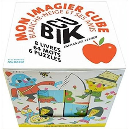 Cubik : mon imagier cube Blanche-Neige et ses amis - Coffret avec 6 puzzles