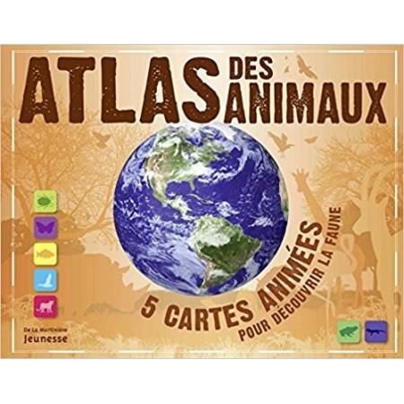 Atlas des animaux - 5 cartes animées pour découvrir la faune