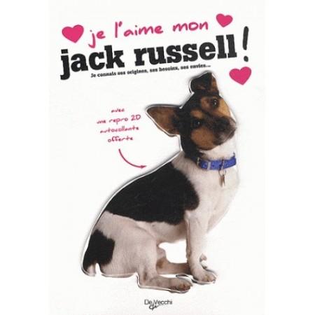 JE L'AIME MON JACK RUSSELL - AVEC UNE REPRO 2D AUTOCOLLANTE