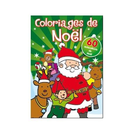 Coloriages Noël avec stickers