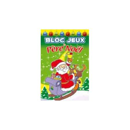 Bloc Jeux Le Père Noël avec stickers
