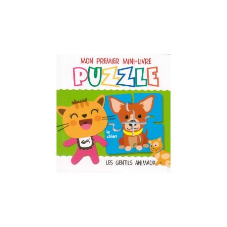 Mon premier mini-livre puzzle Les gentils anilmaux