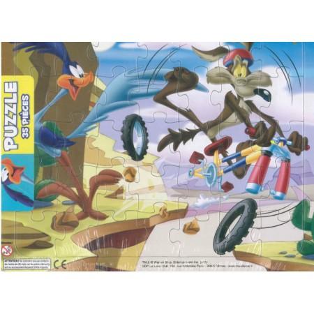 Puzzle Looney-tunes Bip-bip et vil-coyote (vélo)