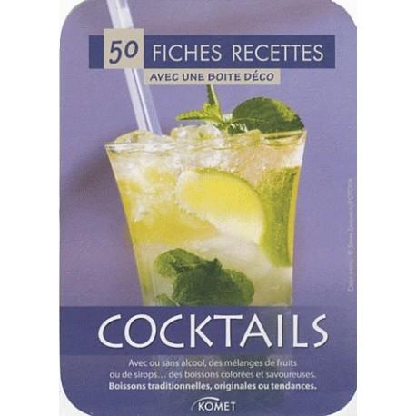 Cocktails - 50 fiches recettes avec une boîte déco