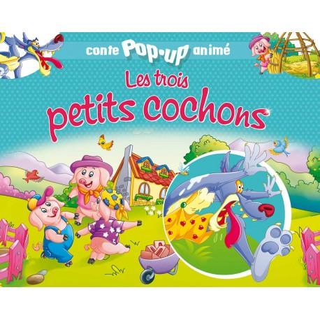 Conte pop-up anime Les trois petits cochons