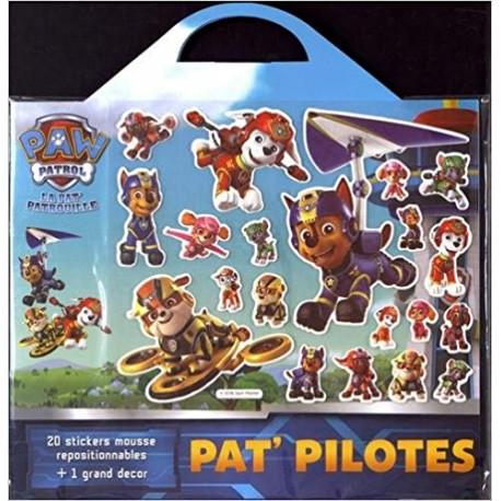 Pat' pilotes - Avec 20 stickers mousse repositionnables + 1 grand décor