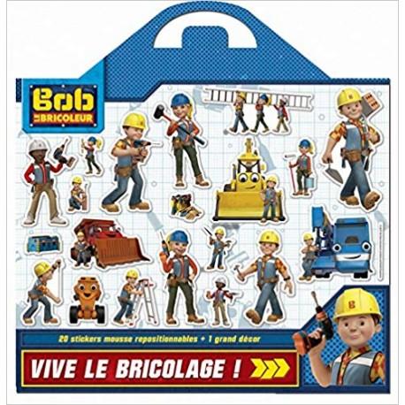 Mission bricolage Bob le bricoleur - Plus de 20 stickers en mousse repositionnables