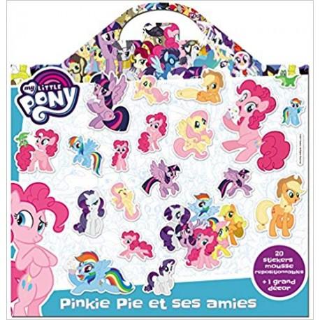 My Little Pony, Pinkie Pie et ses amies - 20 stickers mousse repositionnables + 1 grand décor