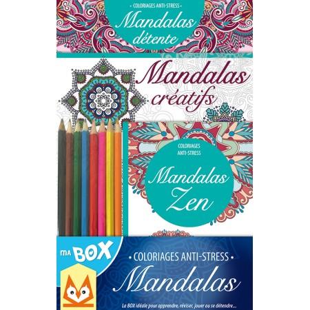 Ma box Coloriages Anti-stress Mandalas Coffret