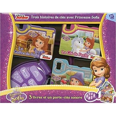 Trois histoires de clés avec Princesse Sofia - Contient 3 livres et 1 porte-clé sonore
