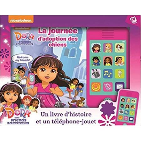 Dora and friends - Appel à tous les amis. Un livre d'histoire et un téléphone sonore