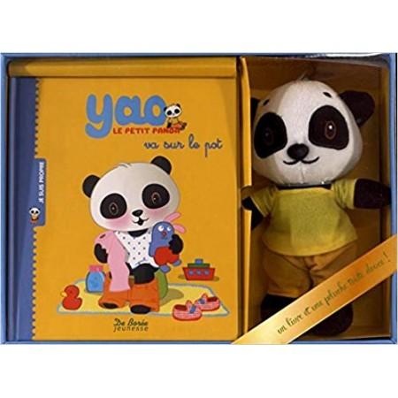 Yao le petit panda va sur le pot - Coffret Livre + peluche (Coffret)