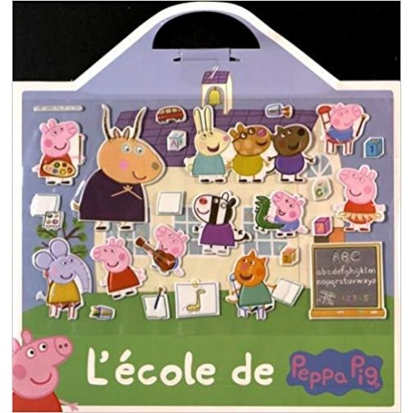 L'école de Peppa Pig - 24 stickers repositionnables et 1 grand décor
