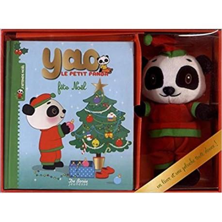 Yao Le Petit Panda Fete Noel Coffret Livre Peluche