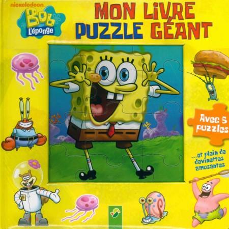 Bob l'éponge Mon livre puzzle géant