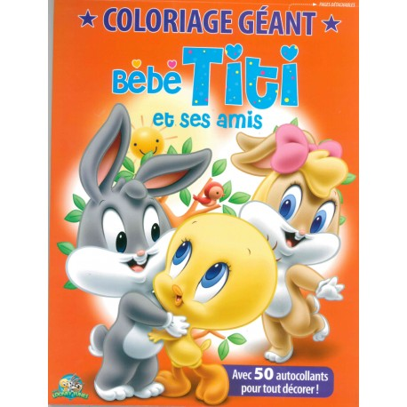 Coloriage Geant Animaux.Coloriage Geant Bebe Titi Et Ses Amis