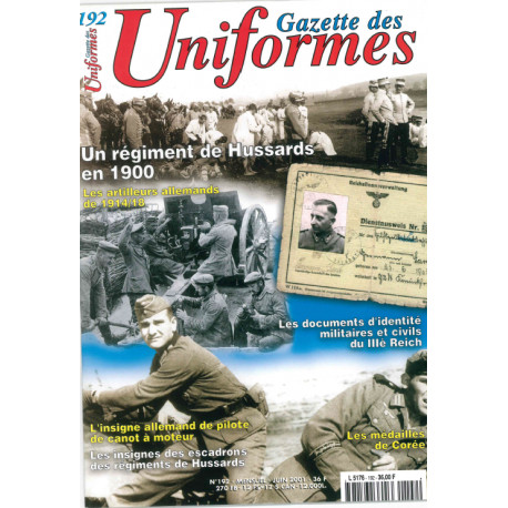 Gazette des uniformes n° 192