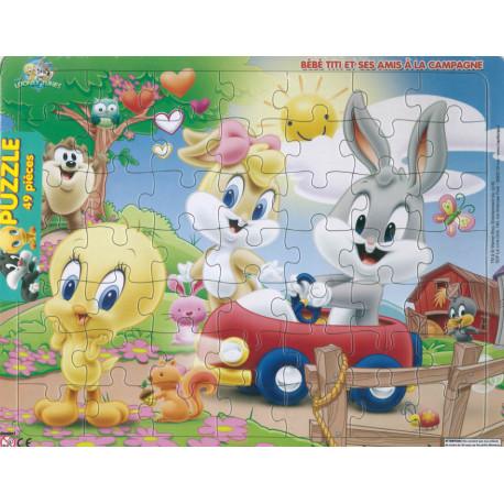 Bébé Titi et ses amis à la campagne Puzzle 49 pièces