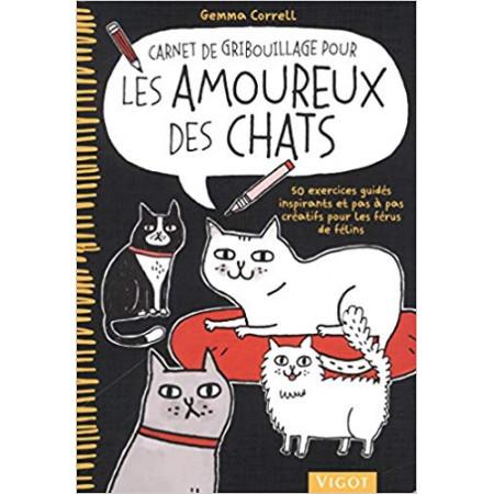 Carnet de gribouillage pour les amoureux des chats