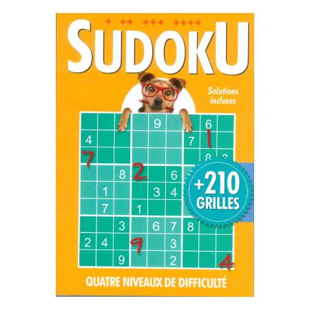 Sudoku + de 210 grilles (Orange) avec chien