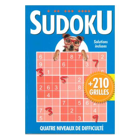 Sudoku + de 210 grilles (bleu) avec chien