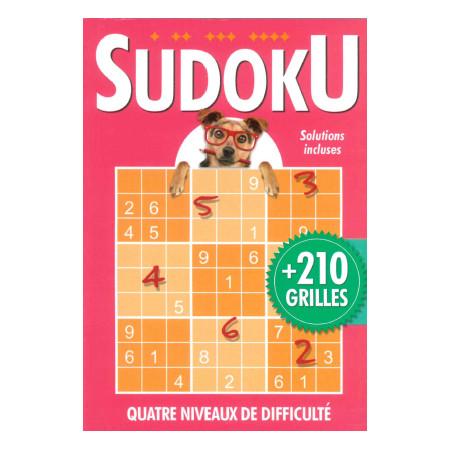 Sudoku + de 210 grilles (rose) avec chien