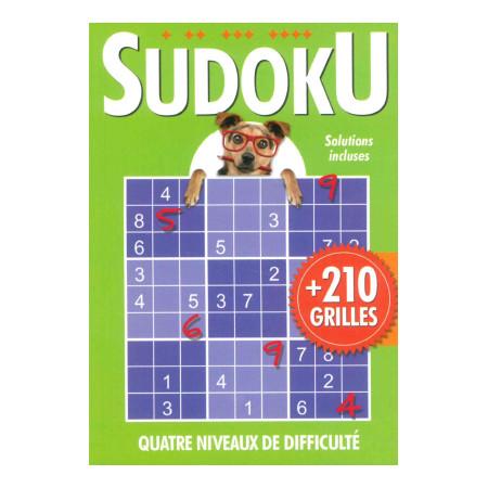 Sudoku + de 210 grilles (vert) avec chien