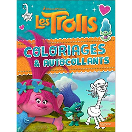 Dreamworks Trolls - Coloriages et autocollants VERT