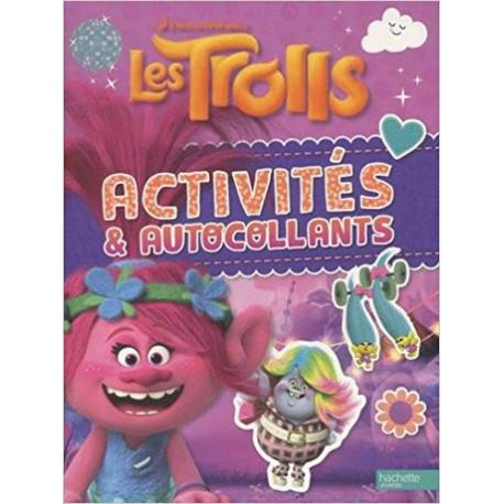 Activités et autocollants Les Trolls ROSE