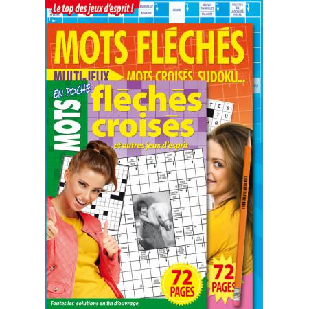 Pack Pochettes mots croisés fléchés ( 3 livres + 1 crayon) poney