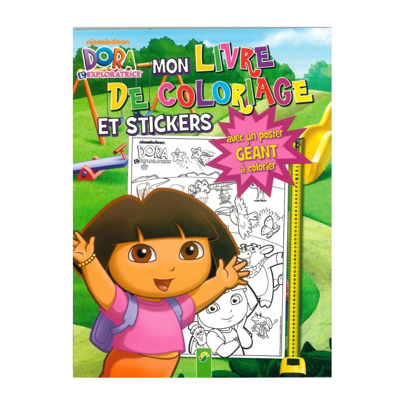 Livres Et Stickers Dora Mon Livre De Coloriage Et De Stickers