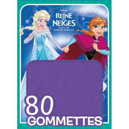 La Reine des Neiges, 80 GOMMETTES (turquoise)